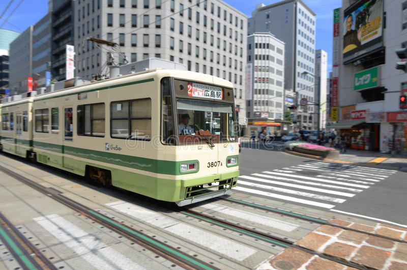 Download Hiroshima Electric Railway editorial photography. Image of hiroden - 20527347