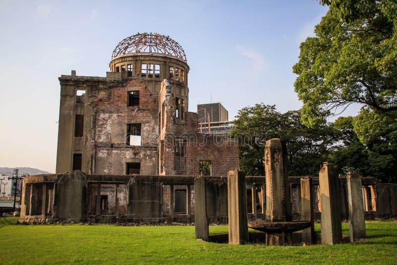 Hiroshima-Friedensdenkmal, Genbaku-Haube, Hiroshima, Japan lizenzfreie stockfotografie