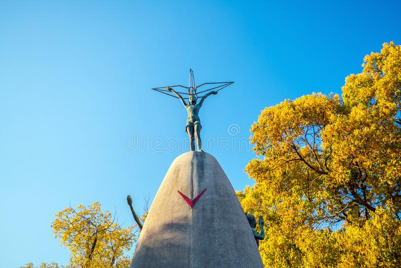 Children`s Peace Monument in Hiroshima Japan royalty free stock photo