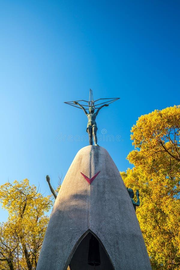 Children`s Peace Monument in Hiroshima Japan stock image