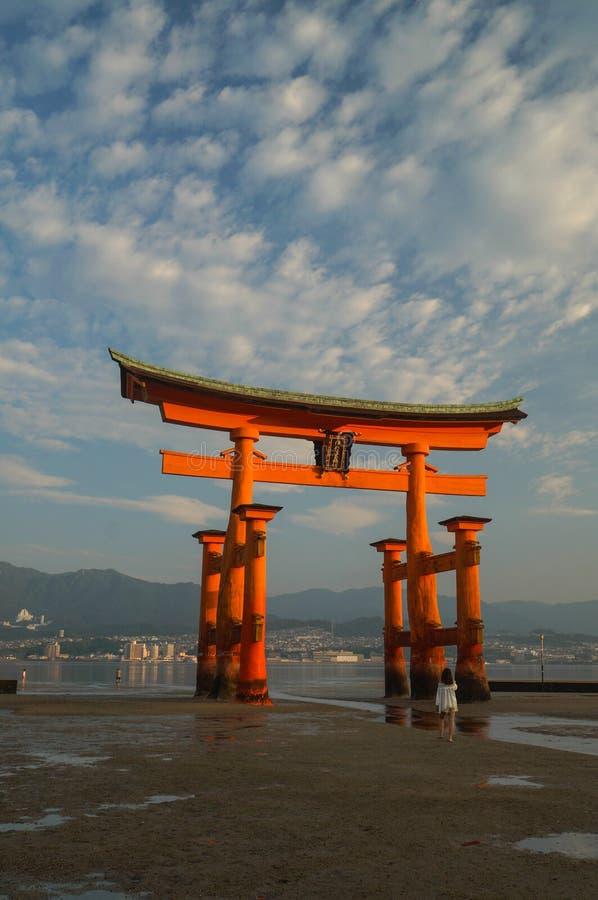 Miyajima Itsukushima Shrine, famous landmark in Hiroshima, Japan royalty free stock image