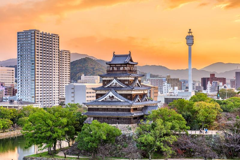 Hiroshima, Japan Cityscape royalty free stock images