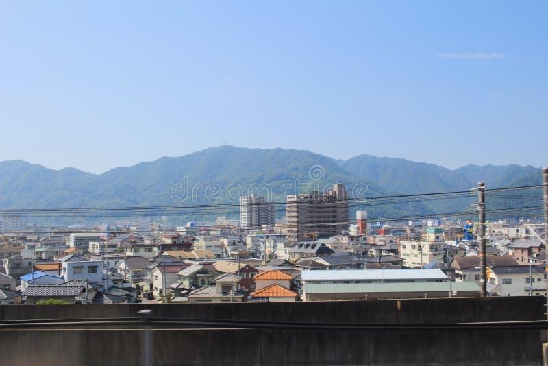 the Hiroshima, Japan cityscape 2016 royalty free stock images