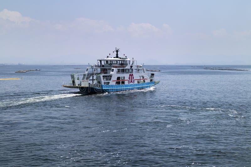 Hiroshima, Japan - May 26, 2017: A ferry on Seto Inland Sea run stock photos