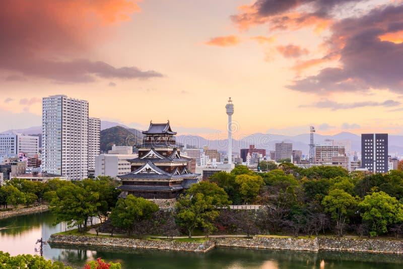 Hiroshima Japan Skyline royalty free stock image
