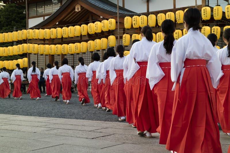 Hiroshima, Japon - 27 mai 2017 : Festival de Manto Mitama Matsuri photo libre de droits