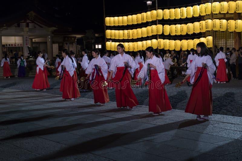 Hiroshima, Japon - 27 mai 2017 : Festival de Manto Mitama Matsuri photographie stock libre de droits