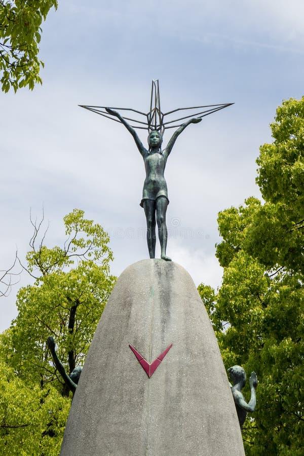 Hiroshima, Japon - 25 mai 2017 : Monument de paix du ` s d'enfants, Hir images stock