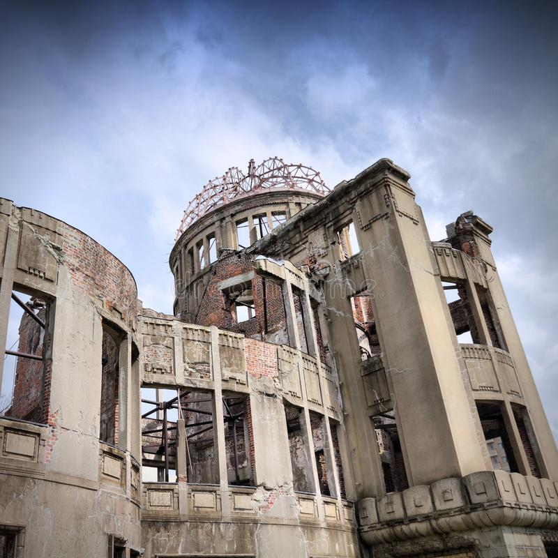 Hiroshima landmark. Hiroshima city in Chugoku region of Japan (Honshu Island). Famous atomic bomb dome stock photo
