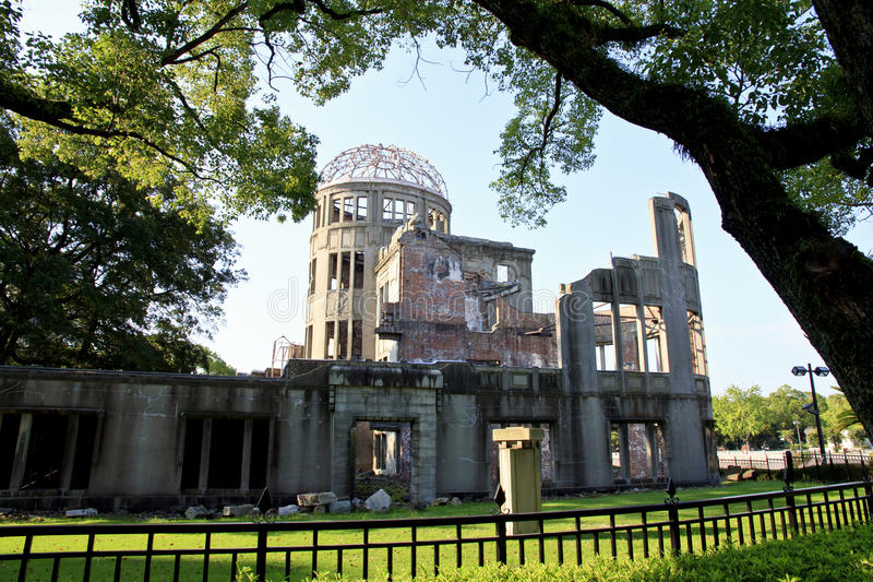 Hiroshima Peace Memorial. Park morning royalty free stock image