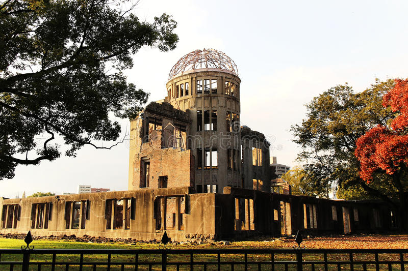 Hiroshima Peace Memorial. Atomic Bomb Dome called Genbaku Dōmu is part of the Hiroshima Peace Memorial Park and was designated a UNESCO World Heritage Site in royalty free stock photos