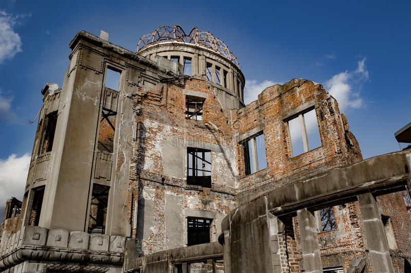Hiroshima Peace Memorial - Genbaku Dome. The Hiroshima Peace Memorial Genbaku Dome originally the Hiroshima Prefectural Industrial Promotion Hall, and now stock photo