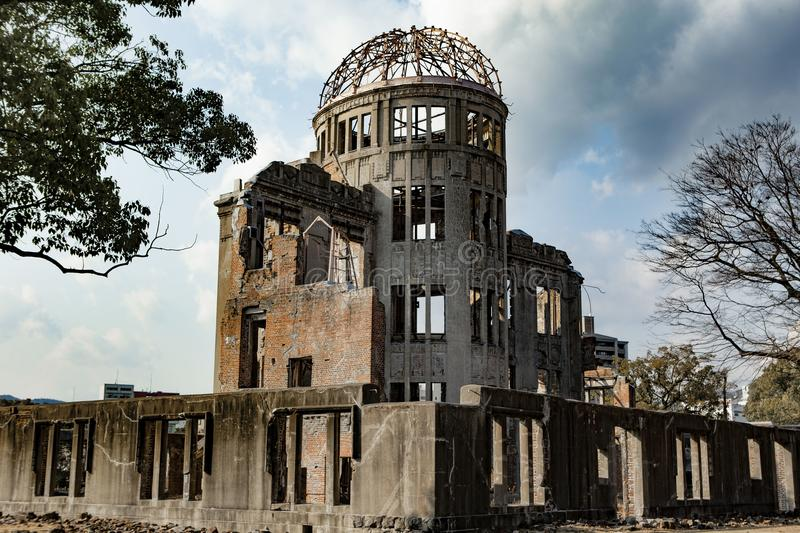 Hiroshima Peace Memorial - Genbaku Dome. The Hiroshima Peace Memorial Genbaku Dome originally the Hiroshima Prefectural Industrial Promotion Hall, and now royalty free stock photography