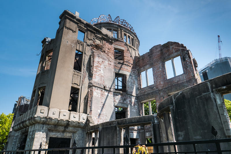 Hiroshima Peace Memorial. Hiroshima, Japan - May 5, 2016: Atomic Bomb Dome. Atomic Bomb Dome or Genbaku Domu (A-Bomb Dome) in Hiroshima, Japan is part of the stock photo