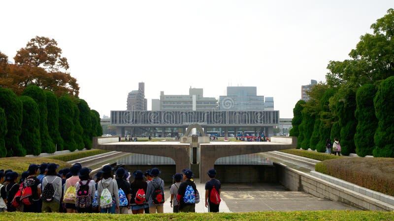 Hiroshima peace memorial park stock image