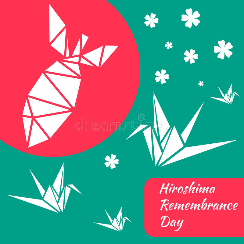 Hiroshima 2. Hiroshima Remembrance day banner. Vector illustration vector illustration