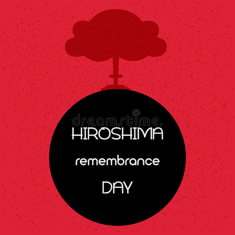 Hiroshima remembrance day. Vector illustration. Hiroshima remembrance day. Vector illustration of explosion royalty free illustration