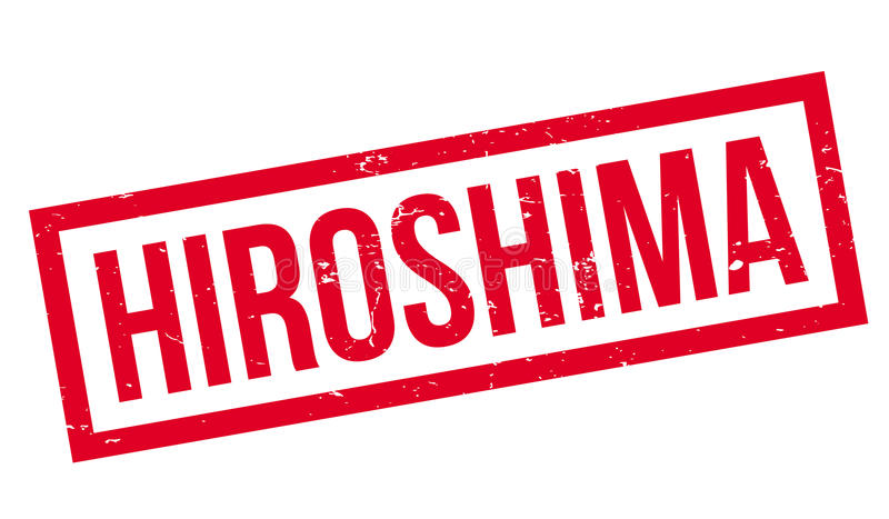 Hiroshima rubber stamp. Grunge design with dust scratches. Effects can be easily removed for a clean, crisp look. Color is easily changed vector illustration