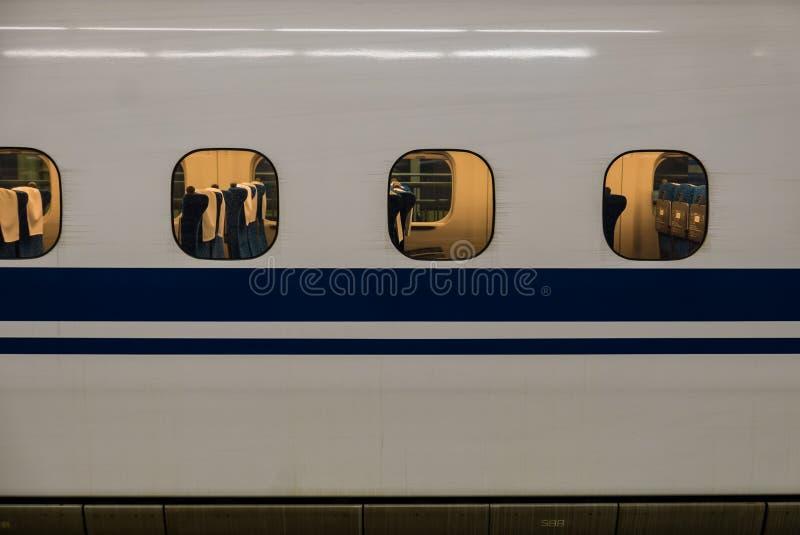 Hiroshima station. Closed up train at Hiroshima station royalty free stock photos