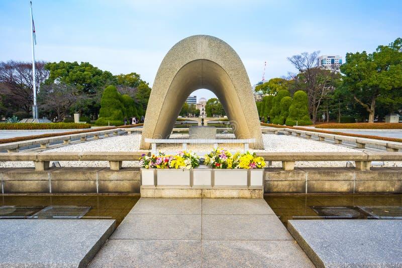 Hiroszima pokój Memorial Park w Hiroszima, Japonia zdjęcia royalty free