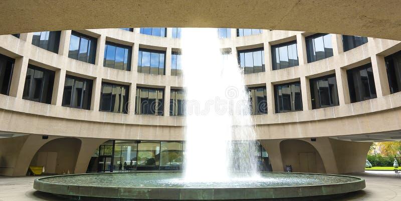 Hirshhorn美术馆庭院内部和喷泉 免版税库存图片