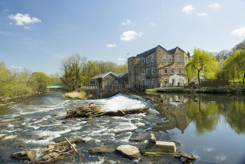 Hirstmolen, Saltaire, West-Yorkshire, Engeland royalty-vrije stock fotografie