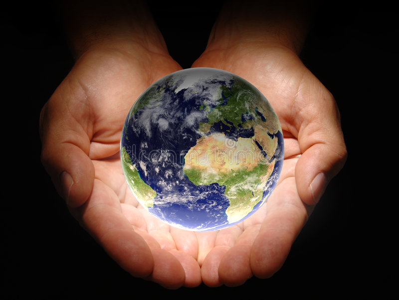 Download In His Hands stock photo. Image of earth, holding, providence - 2762046