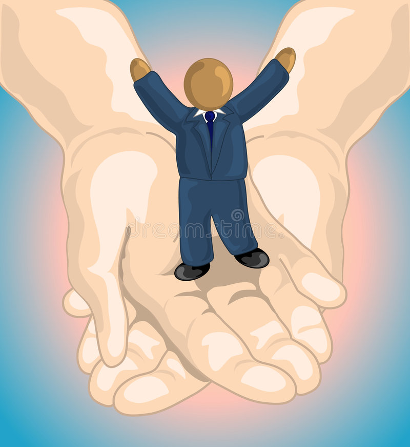 His hands stock illustration
