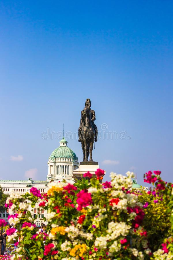 Royal winter festival, Un Ai Rak Khlai Khwam Nao, at Royal Plaza, Dusit Palace and Sanam Suea Pa, Bangkok, Thailand on February16,. His Majesty King Maha royalty free stock image