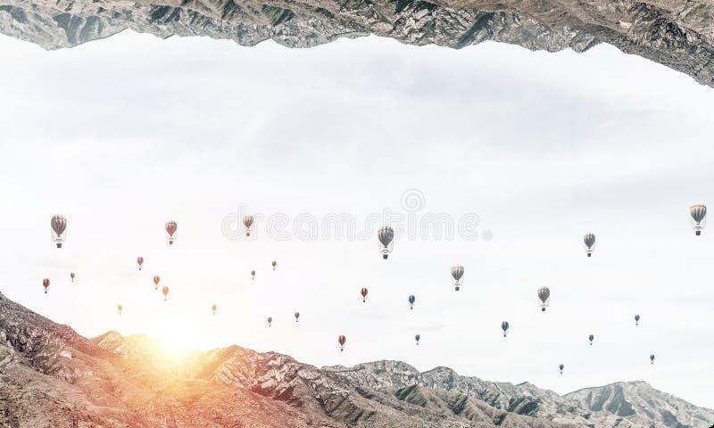 Hisnande landskapsikt arkivfoto