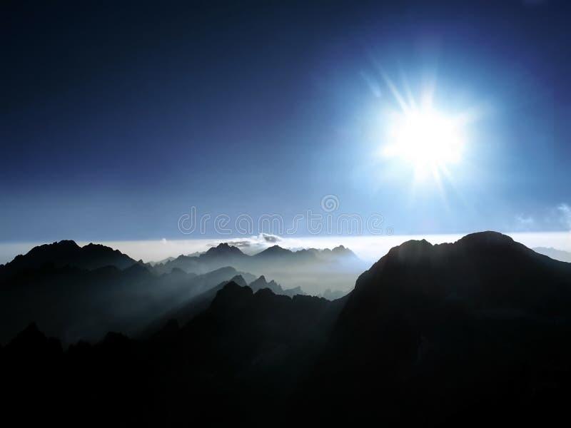 Hisnande panorama uppifrån royaltyfri fotografi