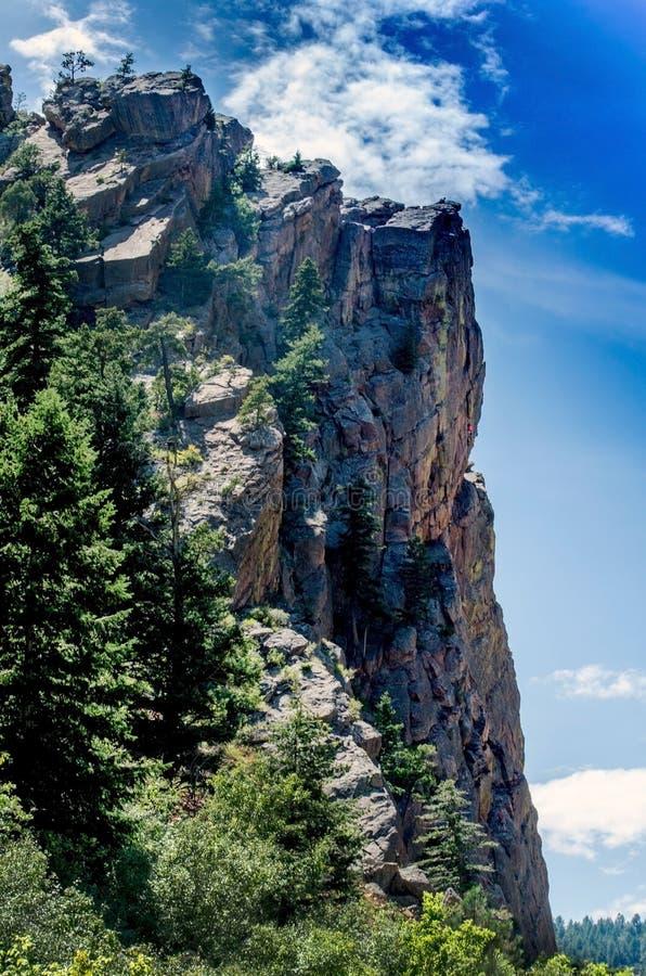Hisnande sceniskt berglandskap i Colorado USA fotografering för bildbyråer