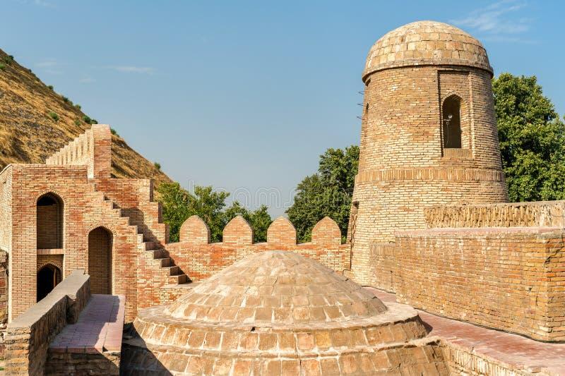 Hisor-Festung auf Tadschikistan lizenzfreie stockfotografie
