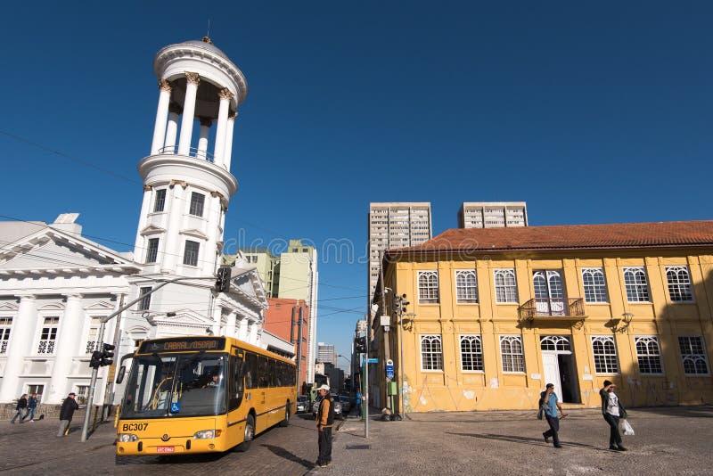 Hisorical centrum Curitiba miasto fotografia royalty free