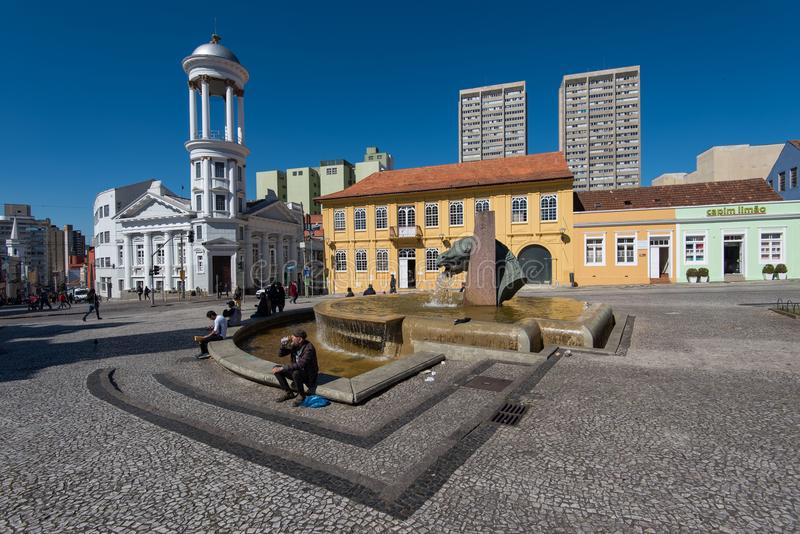 Hisoricalcentrum van Curitiba-Stad royalty-vrije stock foto's