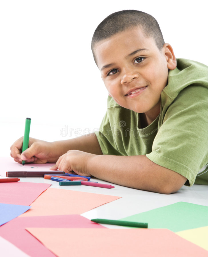 Download Hispanic boy coloring. stock photo. Image of little, smiling - 5538708