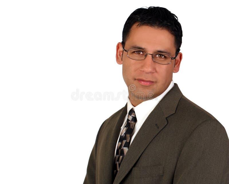 Hispanic business man. Isolated on white stock photo