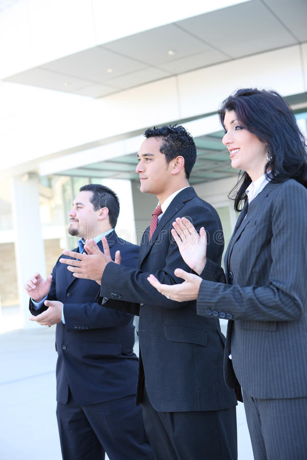 Hispanic Business Team Clapping stock photography
