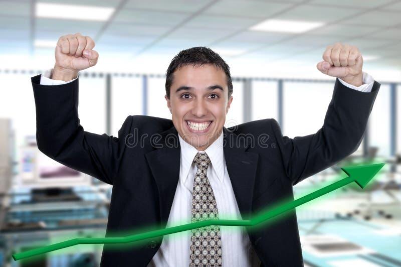 Hispanic businessman successfully