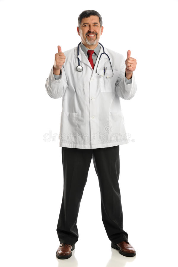 Download Hispanic Doctor Showing Thumbs Up Stock Photo - Image: 27448980