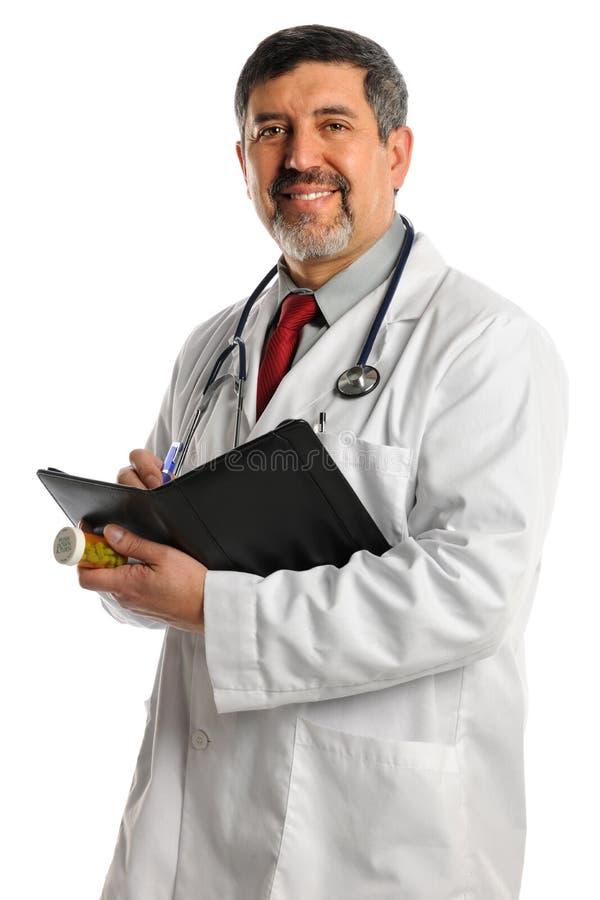 Free Hispanic Doctor Writting Prescription Royalty Free Stock Photo - 25459115
