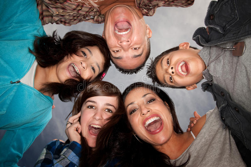 Download Hispanic Family stock image. Image of funny, latino, five - 13950617