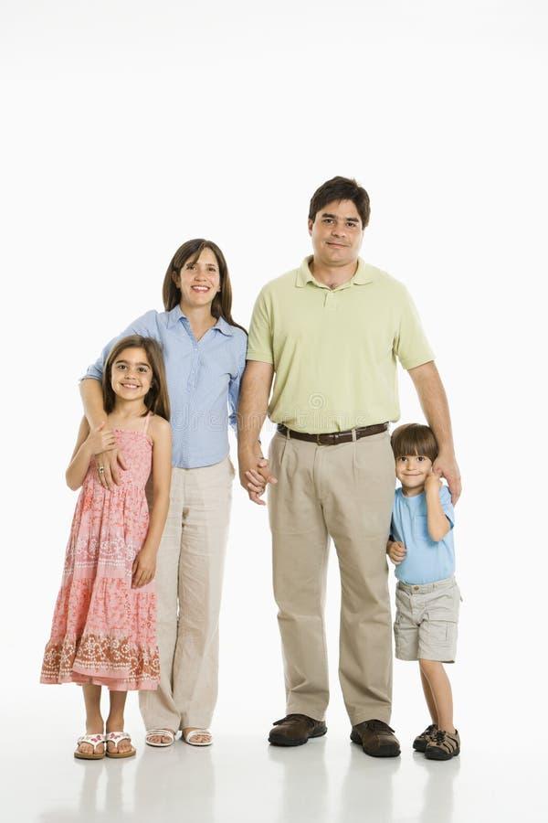 Hispanic family. royalty free stock photography