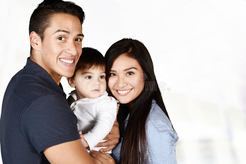 Hispanic Family Together royalty free stock images