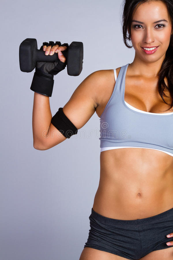 Hispanic Fitness Woman stock images