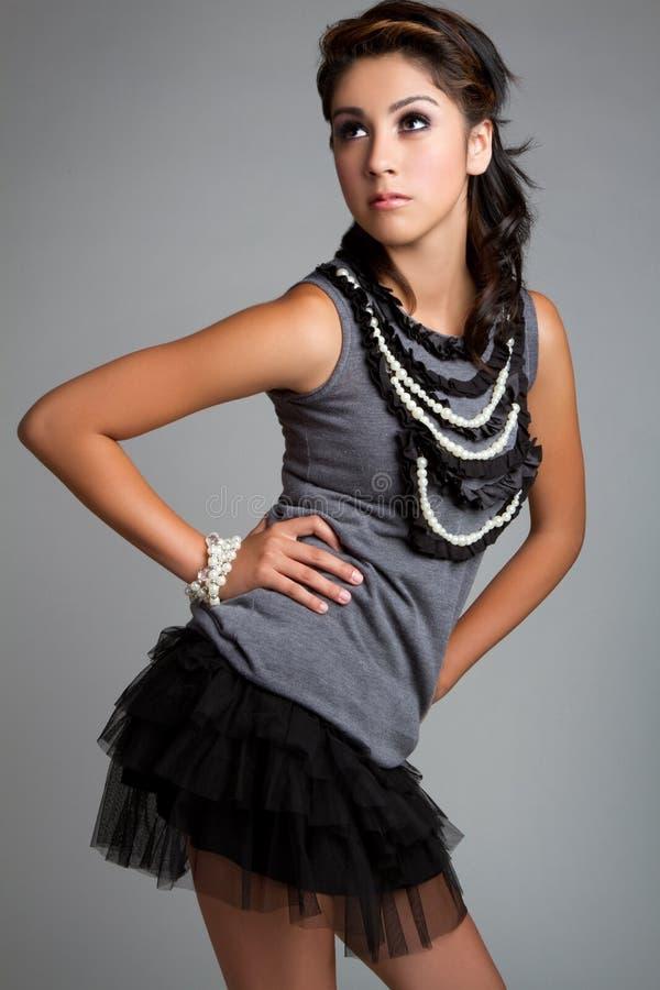Hispanic Girl. Beautiful young hispanic fashion girl royalty free stock photo