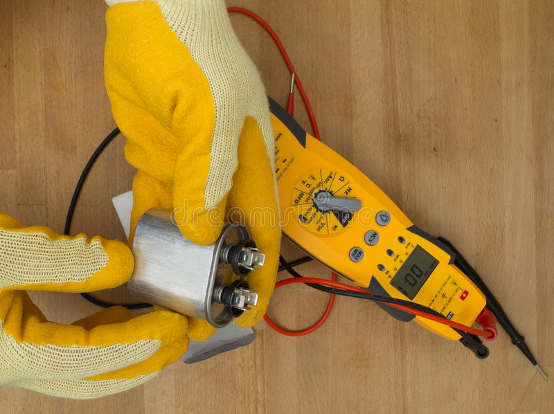 Hispanic handyman repairman stock images