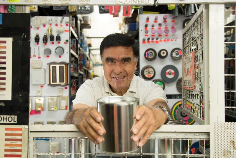 Hispanic hardware store stock photo