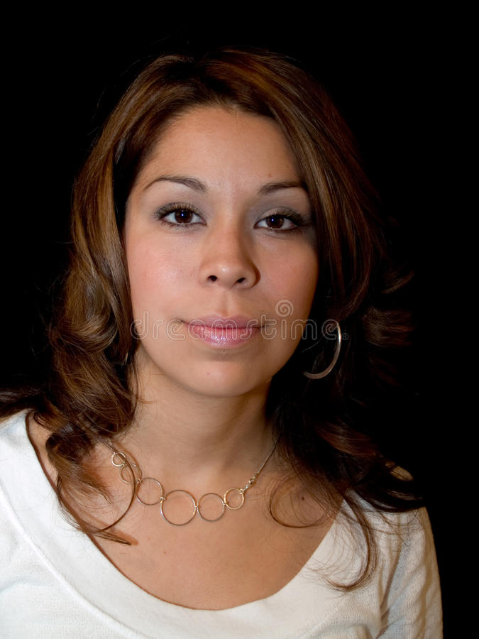 Hispanic lady stock image