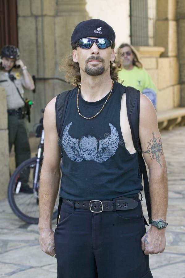 Hispanic Man In Black T-shirt Editorial Stock Image